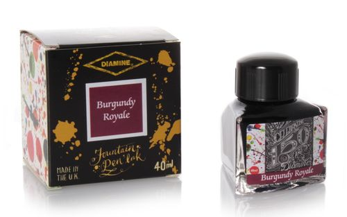 Diamine - Anniversary Fountain Pen Ink 150 years, Burgundy Royale 40ml