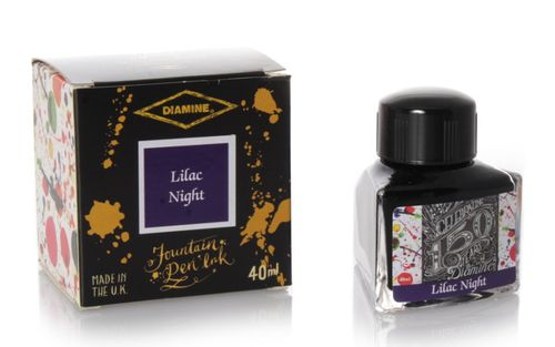 Diamine - Anniversary Fountain Pen Ink 150 years, Lilac Night 40ml