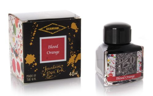 Diamine - Anniversary Fountain Pen Ink 150 years, Blood Orange 40ml