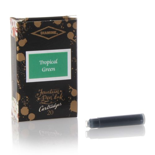 Diamine - Standard Ink Cartridges, Tropical Green, 20 cartridges – image 1
