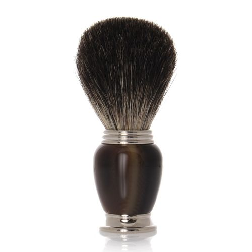 GOLDDACHS Shaving brush, 100% badger hair, Galalith