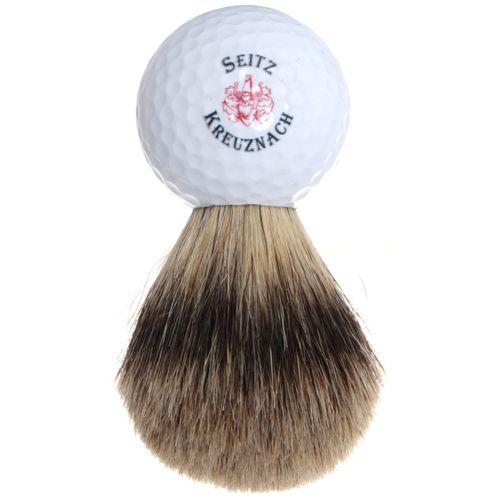 """Seitz-Kreuznach Shaving Set """"Golf"""", Safety razor, Silvertip, wooden casket – Bild 3"""