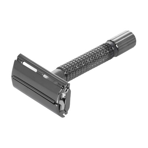 G&F - Gentle Shaver Safety razor, Butterfly, black chrome, 8 cm