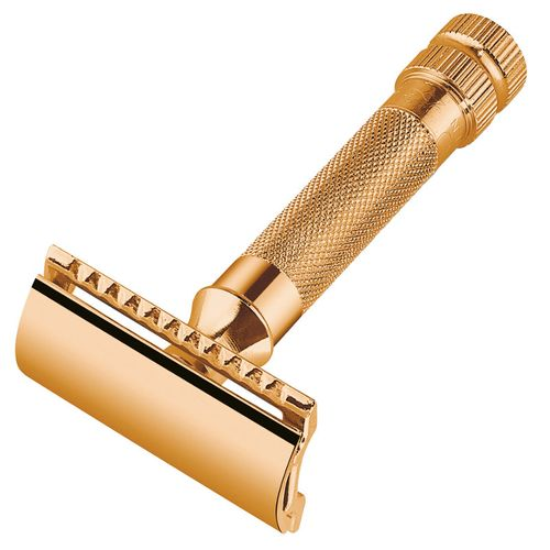 MERKUR Solingen - Safety razor, gold-plated, closed comb, 9034003