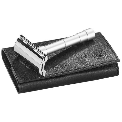 MERKUR Solingen - Travel Rasierhobel, 3-pcs., 10 blades, leather case, 9046002 – image 1