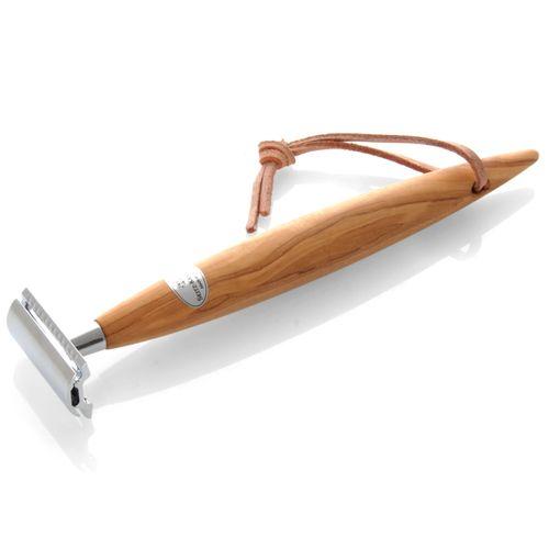 Seitz-Kreuznach - Shaving Set Olive Wood XXL, Safety razor, Silvertip – image 2