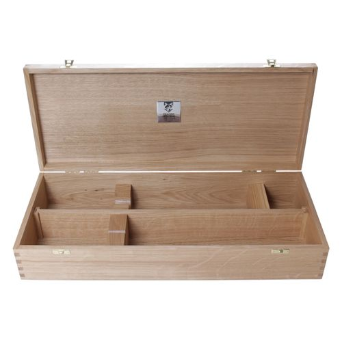 Claude Dozorme Presentation Box for Champagne Sabre and Bottle, Oak Wood