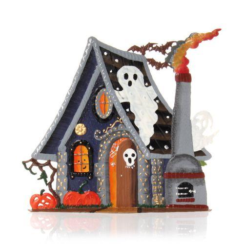 Halloween Geisterhaus, Standfigur aus Zinnlegierung - Wilhelm Schweizer