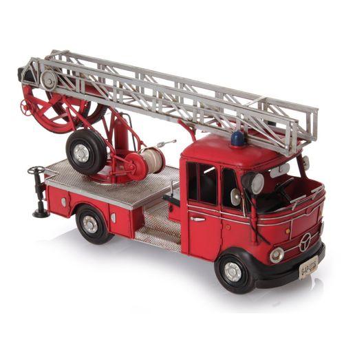 Modellauto - Feuerwehr Deutsch 1960, Retro Blech-Modell – Bild 1