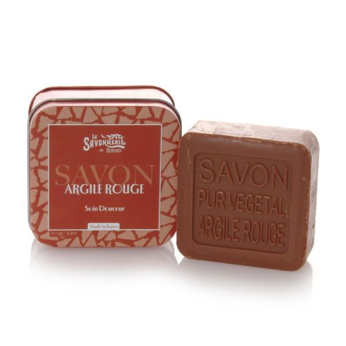 La Savonnerie de Nyons, Soap in a Tin Box, Argile Rouge (Red Clay), 100 g