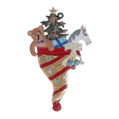 Tree decorations made of tin, Christmas Cornet - Wilhelm Schweizer – image 1