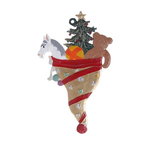 Tree decorations made of tin, Christmas Cornet - Wilhelm Schweizer – image 2
