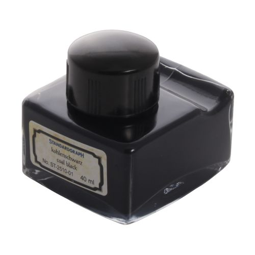 Standardgraph Inkwell Mileo with Deposition, Coalblack, 40 ml
