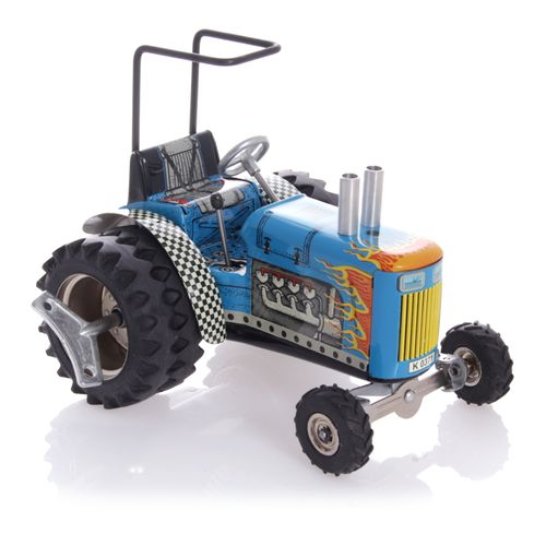 Tractor made of sheet Metal with winding Mechanism - Nostalgic Tin Toy