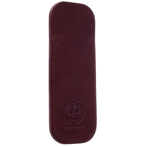 Robert Klaas Leather case for pocket knives, made of vegetable-tanned cowhide, chestnut