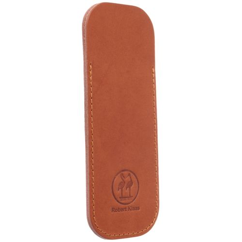 Robert Klaas Leather case for pocket knives, made of vegetable-tanned cowhide, cognac