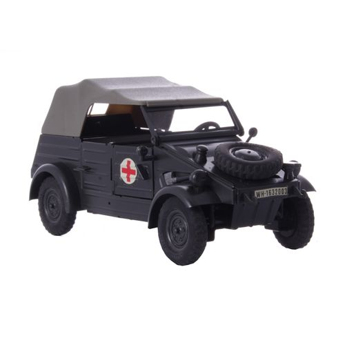 Car, Kübelwagen (Tub Car) Red Cross- Military Green