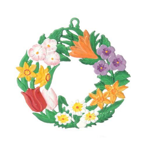 Pewter Pendant, Floral Wreath/Spring 6 cm - Wilhelm Schweizer