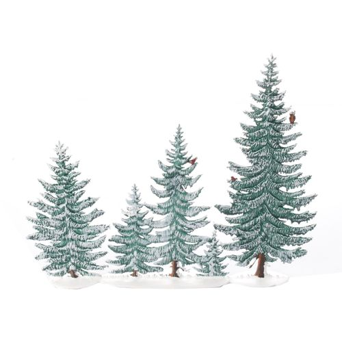 Made of Pewter, Fir Forest with 5 Trees Winter - Wilhelm Schweizer -