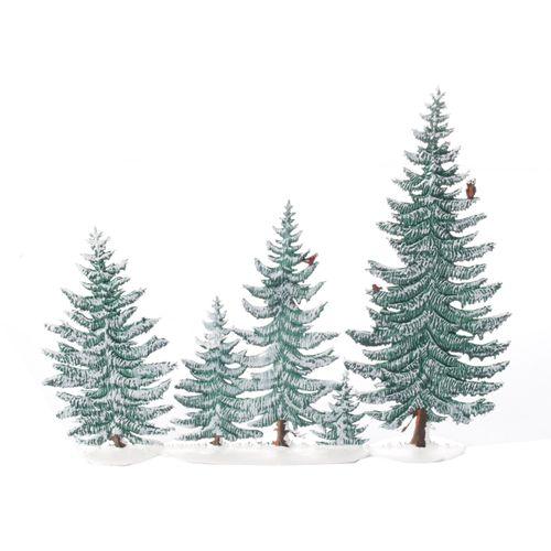 Tannenwald 5 Bäume Winter, Standfigur aus Zinnlegierung - Wilhelm Schweizer