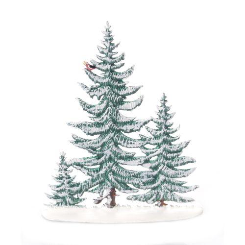 Standfigur aus Zinn, Fichtengruppe Winter 10 cm - Wilhelm Schweizer -