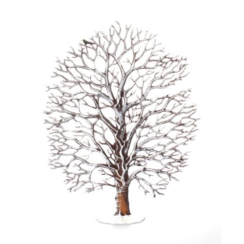 Made of Pewter, Oak in the Winter 17 x 13 cm - Wilhelm Schweizer -