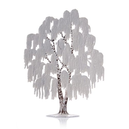Made of Pewter, Weeping Willow Winter 15 x 11 cm - Wilhelm Schweizer -