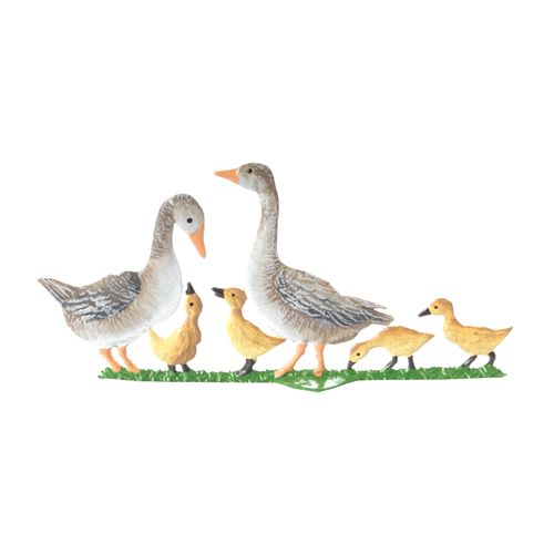 Made of Pewter, Geese and Chicks 4 x 8 cm - Wilhelm Schweizer -