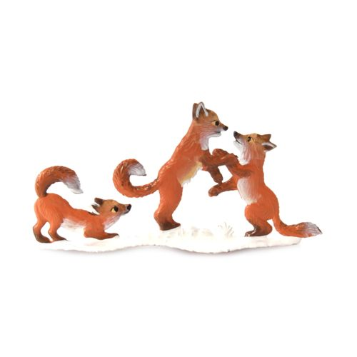 Made of Pewter, Fox Children Winter 9 x 9 cm - Wilhelm Schweizer -