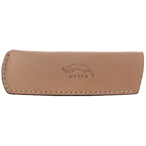 OTTER Plug Case, Leather Nature, 12 x 4 cm