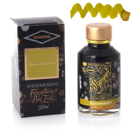 Diamine - Shimmering Fountain Pen Ink, Razzmatazz 50ml