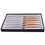 Forge de Laguiole Steak Knife Set, 6 parts, Olive wood, Stainless