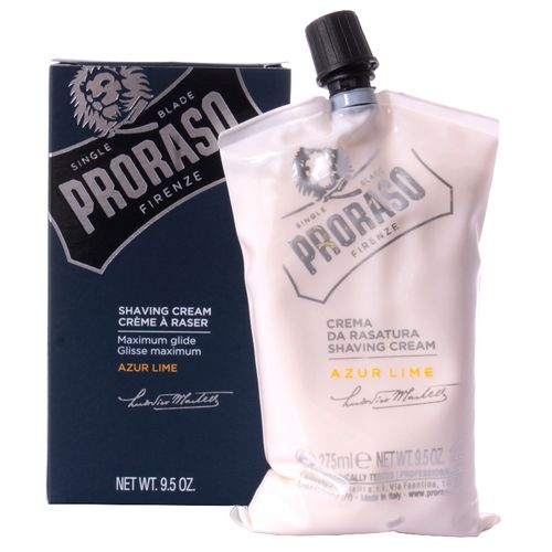 PRORASO Shaving Cream, Azur & Lime, 275 ml