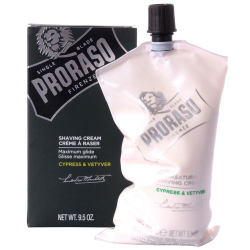 PRORASO Shaving Cream, Cyprus & Vetyver, 275 ml