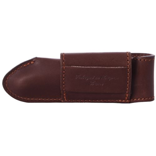 Max Capdebarthes Pocket knife sheath, Laguiole Trad. 13 cm, Choco – image 2