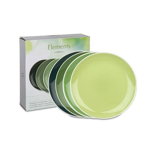 Waechtersbach - Set of 4 plates - Elements - Jungle - green - 19 cm