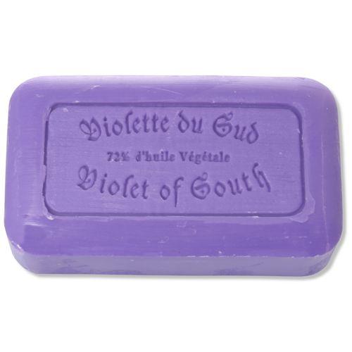 Savon de Marseille - violette de sud (violet of South), 125 g, handmade