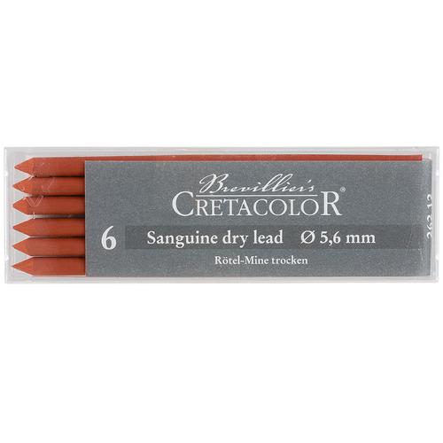 CRETACOLOR artist Mine, red chalk mine, dry, 5,6 mm, 6 pieces – image 1