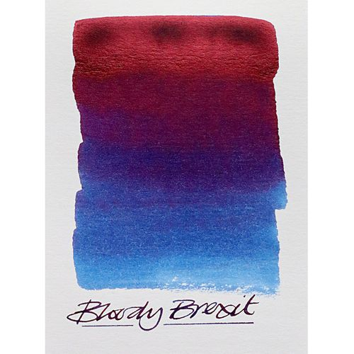"Diamine - Fountain Pen Ink, ""Bloody Brexit"", 80ml, Red-Blue, limited edition – image 2"