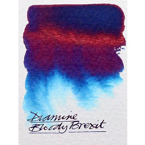 """Diamine - Füllhalter-Tinte """"Bloody Brexit"""", 80ml, rot-blau, lim. Sonderedition – Bild 7"""