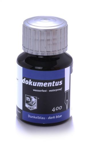 Rohrer & Klingner dokumentus, document ink, dark blue, 50 ml – image 1