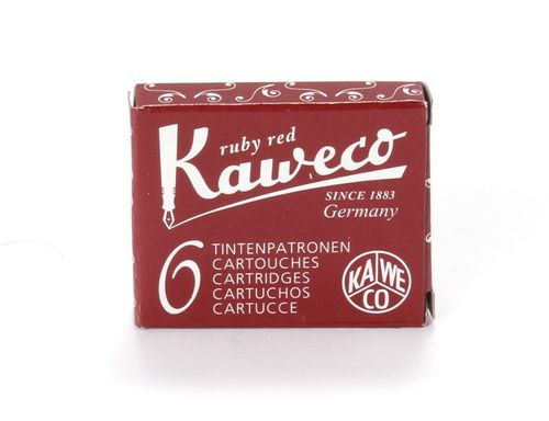 Kaweco Fountain Pen Ink Cartridges short, Ruby Red (Red), Pack of 6 – image 1