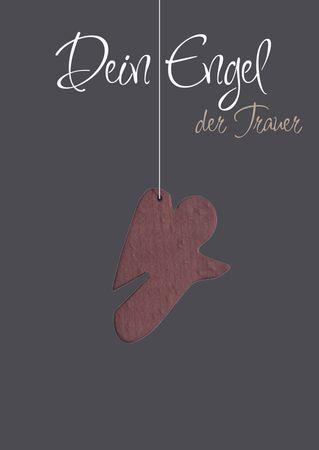 Trauerkarte Dein Engel der Trauer (5 Stck) Holzengel