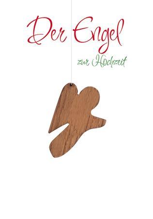Hochzeitskarte Der Engel zur Hochzeit Anhänger (5 St)