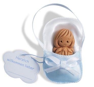Babyschutzengel blau  6 x 4 cm Engel Geschenk
