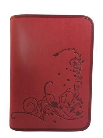 Gotteslobhülle Blumen Großdruck Kunstleder Rot