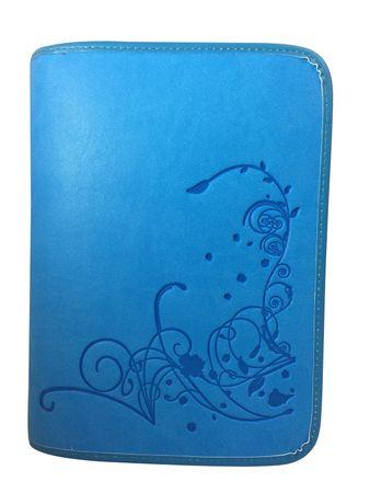 Gotteslobhülle Blumen Großdruck Kunstleder Blau