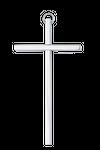 Messingkreuz glatt vernickelt Kruzifix 001