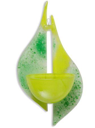 Weihwasserkessel aus Glas hellgrün dunkelgrün 19 cm