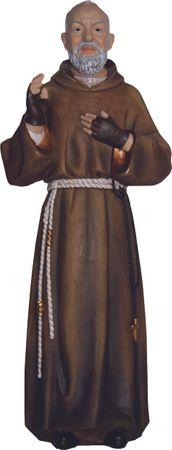 Heiliger Pater Pio, Padre Pio handbemalt 20 cm